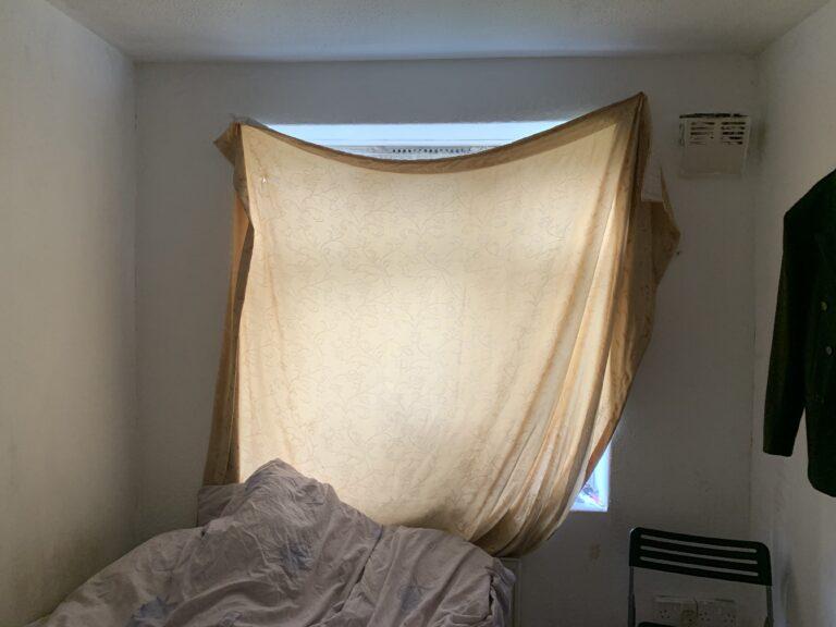Sheet over window